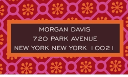 bodrum tile print- red; address labels