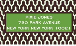 Brown Mustique; address labels