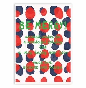 dots red and navy