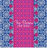 circle flower pattern blue with iomoi marrakech stripe