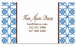 circle pattern french blue; calling cards