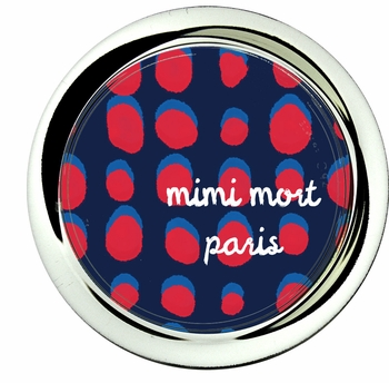 coaster; dots red and french blue