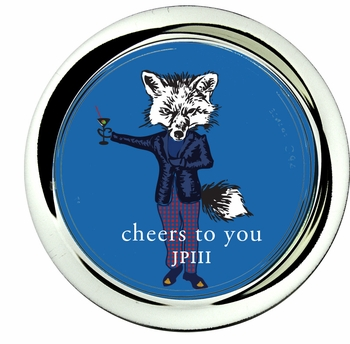 coaster; james the fox french blue