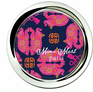 coaster; geo elephant navy and pink