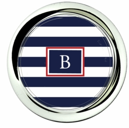 coaster; sailor stripe-navy