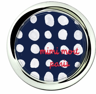 dots navy and white