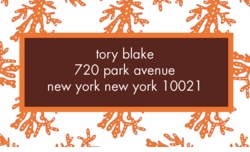coral pattern; address labels