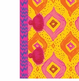 diamond pattern yellow with pink tassel