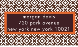 diamond print-chocolate; address labels
