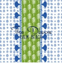 dots blue pattern with iomoi marrakech stripe