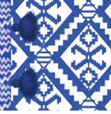 blanket pattern blue