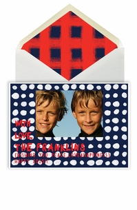 holiday photo cards - dots navy
