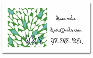 island sky green;calling cards