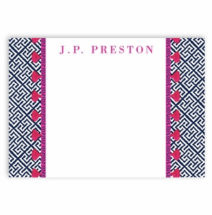 large sandy cay pattern with pink tassel