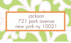 lime floral; address labels