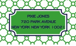 links pattern green;address labels