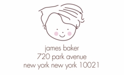 little boy; address labels