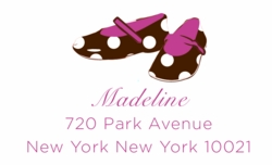 Little Dots Shoe; address labels