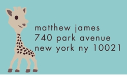 little giraffe-sky; address labels