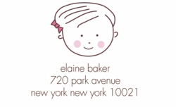 little girl; address labels