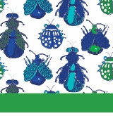 bugs pattern green and blue
