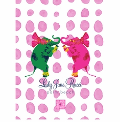 love elephants pink and green