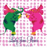 love lucky elephants pink and green