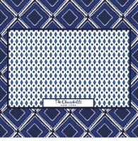 diamond pattern blue and white