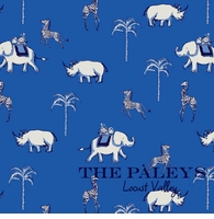 animal pattern blue