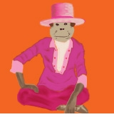 LV the monkey in hat orange