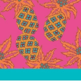 pineapple pattern pink and turquoise