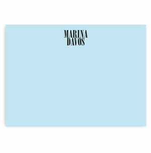 solid pale blue with diana font