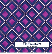 diamond pattern purple and navy