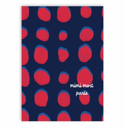phonecase-large dots navy and red