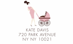 new mom-pink; address labels