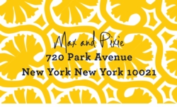 palm pattern yellow;address labels