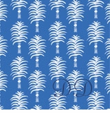 palm tree pattern french blue