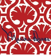 paperweights;Palm Pattern Red