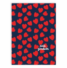 sprinkle hearts navy and red