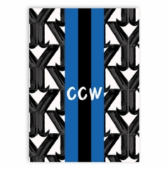 phone case y pattern black and white