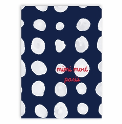 phonecase-navy and white dots