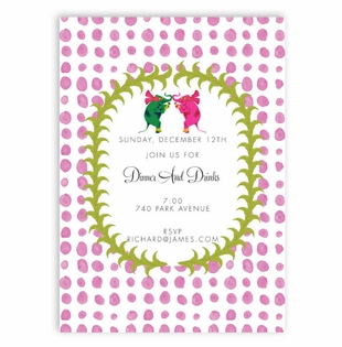 pink dots pattern with love elephants