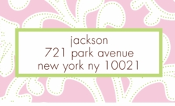 pink floral; address labels