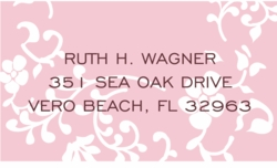 pink peony; address labels