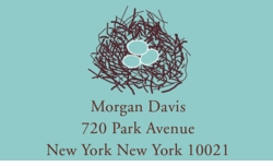 robins egg blue; address labels