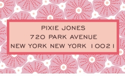 Sea Urchin-Pink; address labels