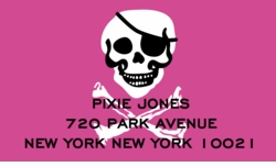 Skull and Bones-Pink; address labels