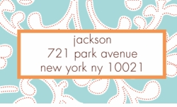 sky floral; address labels