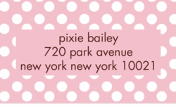 sugar dots; address labels