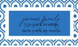 swirl pattern french blue;address labels